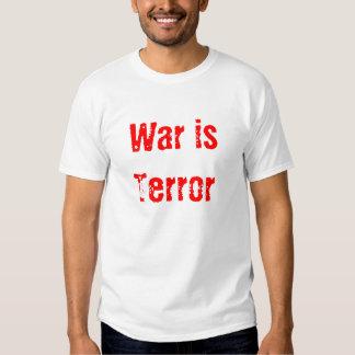 War is Terror T-shirts