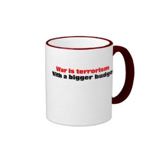 War is terrorism coffee mug