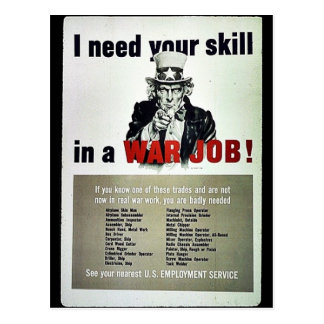 War Job! Postcard