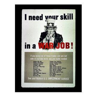 War Job! Post Cards