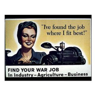 War Jobs Post Cards