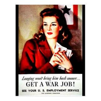 War Jobs Postcard