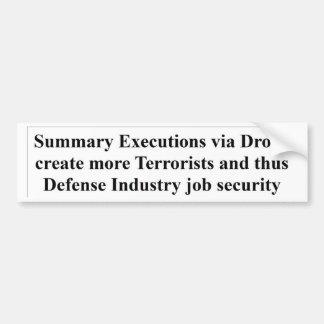 War marketing strategy bumper sticker