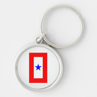 WAR MOTHERS FLAG Silver-Colored ROUND KEY RING