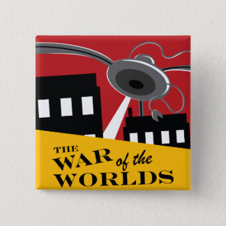 """War of the Worlds"" '38 Logo Button"