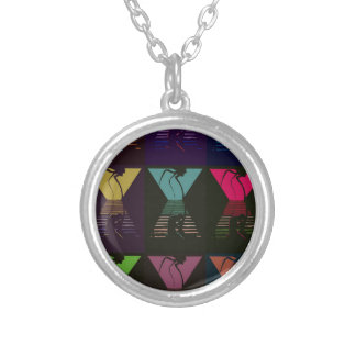 War of the Worlds Pattern Silver Plated Necklace