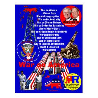 War on America - Postcard