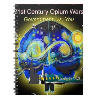 War on Brains Poster Notebook