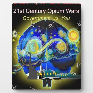 War on Brains Poster Plaque