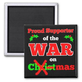 """War on Christmas"" X-Mas Magnet (Black)"