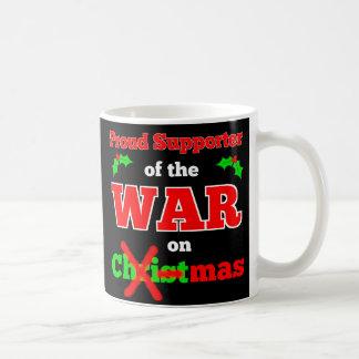 """""""War on Christmas"""" X-Mas Mug (Black)"""