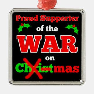 War on Christmas X-mas Ornament (Black)