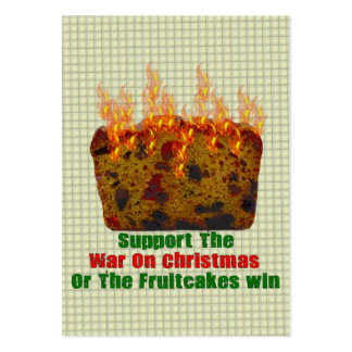War On Fruitcakes Pack Of Chubby Business Cards