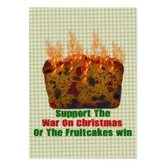 War On Fruitcakes Business Card Templates
