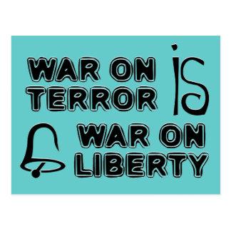 War on Terror is War on Liberty Postcard