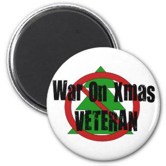 War On Xmas Veteran 6 Cm Round Magnet