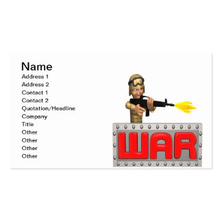 War Pack Of Standard Business Cards