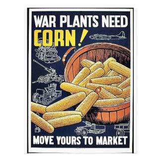 War Plants Need Corn Flyer Design