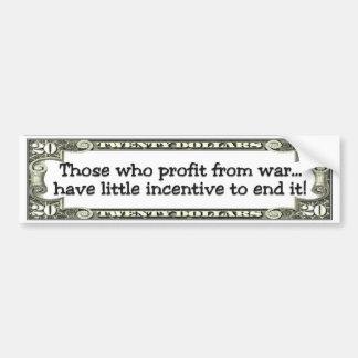 war profiteers bumper sticker