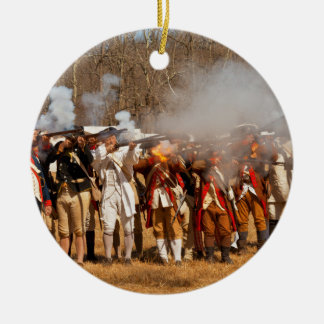 War - Revolutionary War - The musket drill Ceramic Ornament