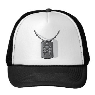War skull dog tag cap