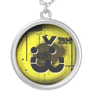 War Smiley Silver Plated Necklace
