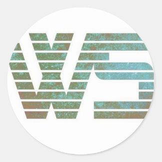 War Stories Logo Merchandise Round Sticker
