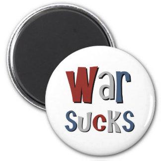 War Sucks 6 Cm Round Magnet