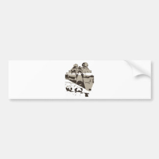 War Tank Bumper Sticker