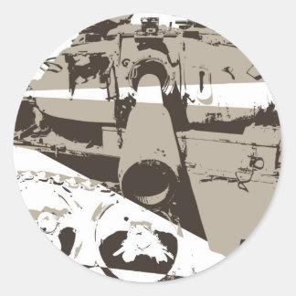 War Tank Round Sticker