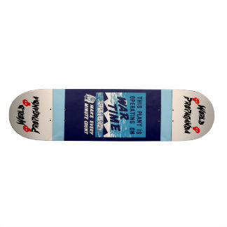 War Time Skateboard! 18.1 Cm Old School Skateboard Deck