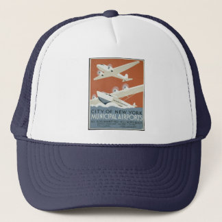 War with Airplane Vintage Trucker Hat