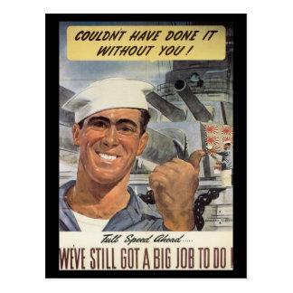 War Work Effort - Navy, World War Postcards