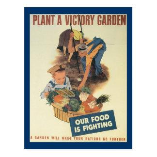 War Work Effort - Work posters - Victory Garden Postcard
