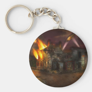 War - WWI - Not fit for man or beast 1910 Basic Round Button Key Ring