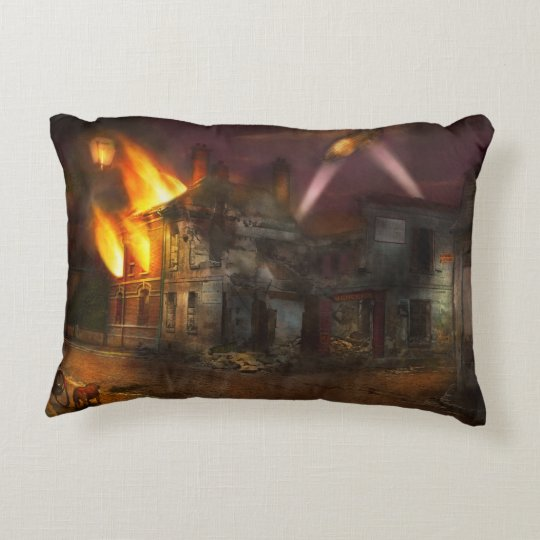 War - WWI - Not fit for man or beast 1910 Decorative Cushion