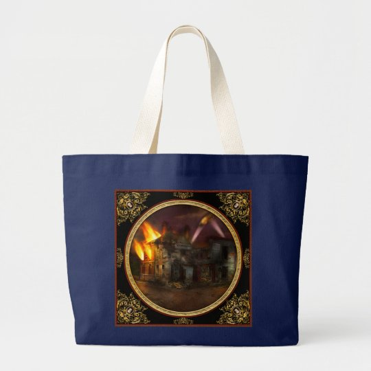 War - WWI - Not fit for man or beast 1910 Large Tote Bag