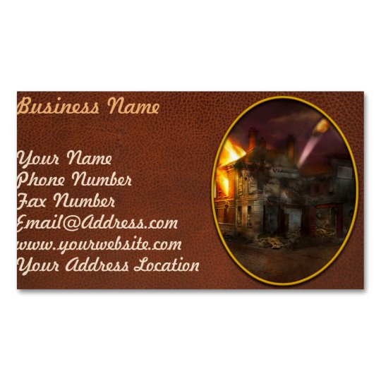 War - WWI - Not fit for man or beast 1910 Magnetic Business Card