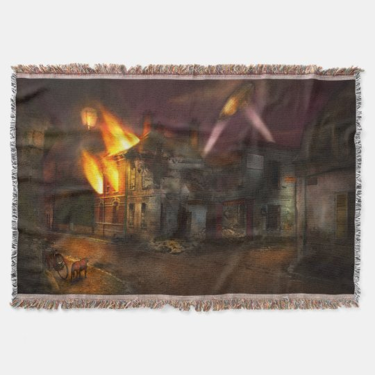 War - WWI - Not fit for man or beast 1910 Throw Blanket