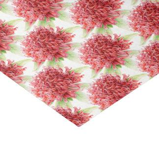 Waratah flower watercolor red botanic tissue paper