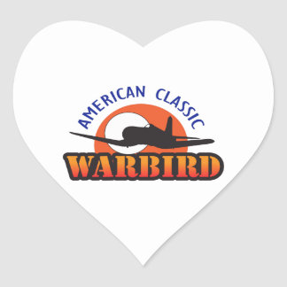 WARBIRD AMERICAN CLASSIC HEART STICKERS