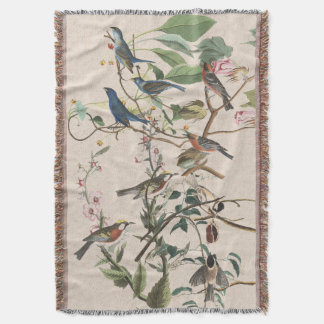 Warbler Birds Audubon Wildlife Throw Blanket
