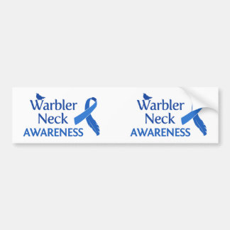 Warbler Neck Awareness Bumper Sticker