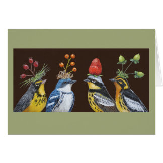 Warblers on Berry Hat Night card