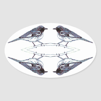 Warblers Oval Sticker