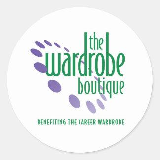 Wardrobe Boutique Apparel Round Sticker