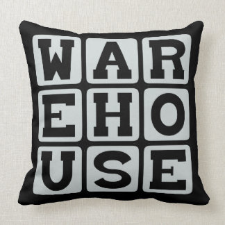 Warehouse Site of Manual Labor Throw Pillow