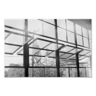 Warehouse Windows, Black and White (Print) Photo Print
