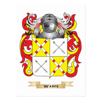 Warfe Family Crest (Coat of Arms) Post Card