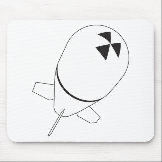 warhead nuclear bomb radioactive warfare weapon mouse pad